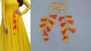 Download Latkan for kurti or lehenga DIY| how to make tessals/latkan for kurti at home easy step by step Video
