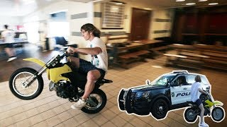 Download Dirtbike Inside A Frat House! Video