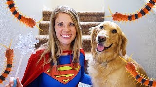 Download Super Girl And Sammie Use Pretend Play Magic! Video