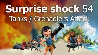 Download How to Attack Surprise Shock Level 54 | Boom Beach | Tanks Video