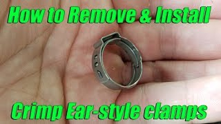 Download How to remove and install Oetiker ear-style crimp pinch cinch clamps Video