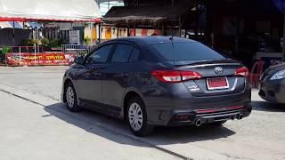 Download (ชุดแต่ง) New Yaris Ativ 2017 - 2018 รุ่น Drive 68 สเกิร์ตอุปกรณ์ของแต่งรถยาริสเอทีฟ สีเทา [Video] Video