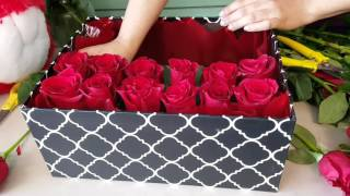 Download Houston Florist - DIY GIFT ROSE BOX - ROSES IN A BOX - Ace Flowers Video