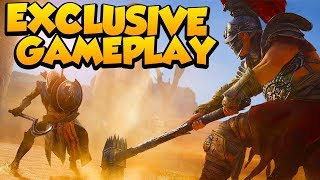 Download Open World & NEW Gladiator Arena Gameplay - Assassin's Creed Origins 4k 60fps (Exclusive Footage) Video