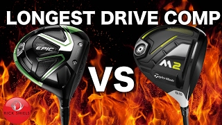 Download LONGEST DRIVE COMP! CALLAWAY GBB EPIC Vs TAYLORMADE M2 2017 DRIVER! Video