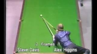 Download Unusual shot by Alex Hurricane Higgins to beat Steve Davis - Snooker Video