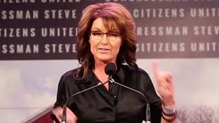 Download Sarah Palin's Bizarre Iowa Rant After Teleprompter Fails Video