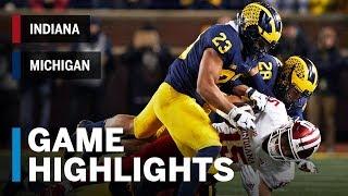Download Highlights: Indiana at Michigan | Big Ten Football Video