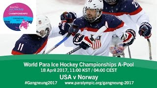 Download USA v Norway | Prelim | 2017 World Para Ice Hockey Championships A-Pool, Gangneung Video