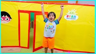 Download Ryan Giant Box Fort Mansion Pretend Play House Tour!!! Video