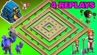 BEST TH12 WAR BASE 2018 Anti 2 Star With 2 Replays Anti
