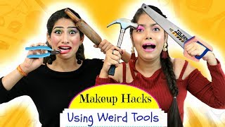 Download Most FUNNY Makeup HACKS using WEIRD Tools - ऐसा Challenge कभी ना देखा होगा | Anaysa Video