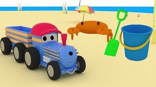 Download Ted the TRAIN goes to the Beach and LEARNS COLOURS | Educational CARTOON for CHILDREN & TODDLERS Video