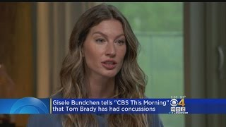 Download Gisele Bundchen Says Tom Brady Had Concussion Last Year Video