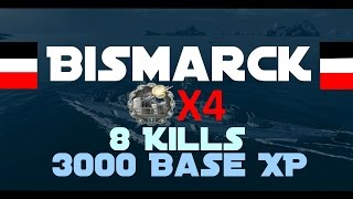 Download Bismarck ✖️ 8 kills ✖️ 4 close quarters ✖️ 3k base xp ✖️ 160k damage ✖️ epic torpedobeats Video