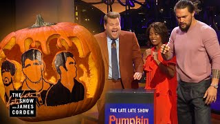 Download Jason Momoa SMASHES Pumpkin Carving Contest w/ Brass Knuckles Video