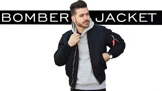 Download HOW TO STYLE A BOMBER JACKET | MEN'S FASHION | ALEX COSTA Video