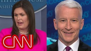 Download Anderson Cooper laughs at Sanders explanation: That's rich Video