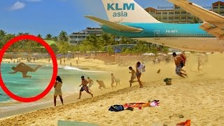 Download NEW! ✈ Boeing 747 Take Off & Jet Blast at SXM Sint Maarten Video