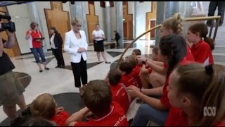 Download Julie Bishop tells school children she's very excited by a Donald Trump presidency Video