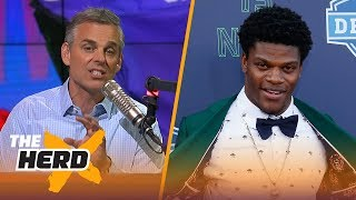 Download Colin Cowherd outlines why Lamar Jackson is Tim Tebow 2.0 | NFL | THE HERD Video