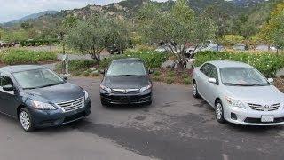 Download 2013 Nissan Sentra vs Honda Civic vs Toyota Corolla 0-60 MPH Mashup Review Video