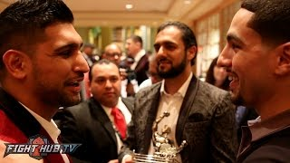 "Download Amir Khan & Danny Garcia embrace ""Khan is a better fighter than Keith Thurman"" Video"