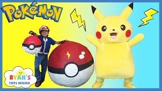 Download GIANT EGG POKEMON GO Surprise Toys Opening Huge PokeBall Egg Catch Pikachu In Real Life ToysReview Video