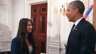 Download President Obama Tours the 2014 White House Science Fair Video