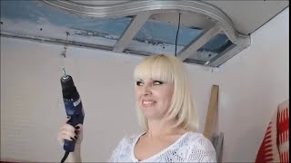 Download Как самостоятельно и без труда сделать ремонт потолка из гипсокартона за 5 минут. Video