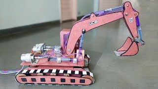 Download How to Make a Remote Control Hydraulic Excavator / JCB at Home Video