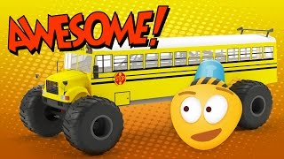 Download Monster Truck School Bus | Construction Game | Educational Cartoon Video for Kids Video