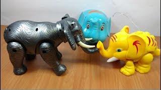 Download Đồ chơi 3 con voi ma mút chạy pin vừa đi vừa đẻ chú voi con mammoth elephants toy for kids Video