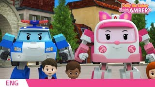 Download 🚨 Daily life Safety with AMBER   EP 25 - 26   Robocar POLI   Kids animation Video