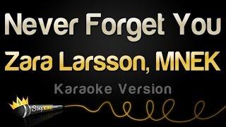 Download Zara Larsson, MNEK - Never Forget You (Karaoke Version) Video