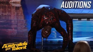 Download CREEPY Spider Contortionist Troy James | Auditions | Australia's Got Talent Video