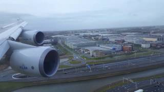 Download KLM 747-400 Turbulent Approach into Amsterdam Video