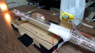 Download 40 Watt CO2 Laser Tube - First Test Video