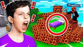 Download TROLLING MY LITTLE BROTHER IN MINECRAFT BED WARS! (MCPE) Video