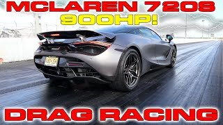 Download 900HP McLaren 720S sets new 1/4 Mile Drag Racing Record for quickest McLaren Video