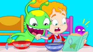 Download Groovy The Martian - Phoebe's not eating her healthy breakfast - Detective Books for kids Video