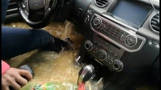 Download Как утопить Land Rover Discovery 4...Баба за рулём. Lexus LX 470 offroad. Car Sinking in water. Брод Video
