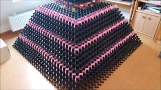 Download Biggest 3D domino pyramid fail ever - 31*31 - 19000 dominos Video