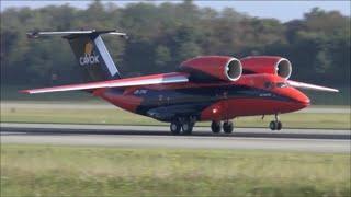 Download Cavok Air Antonov 74 awesome take-off at Basel EuroAirport - 28/09/2014 Video