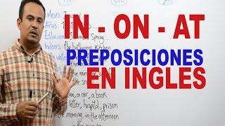 Download Preposiciones en INGLES In On At Video