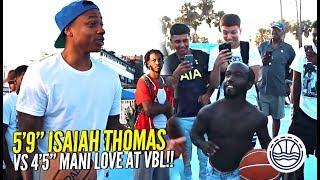 Download 5'9 Isaiah Thomas vs 4'5 Mani Love For $500 at VBL!!! WHO YOU GOT!? Video