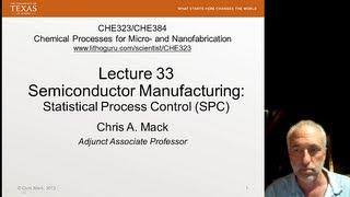 Download Lecture 33 (CHE 323) Statistical Process Control (SPC) Video