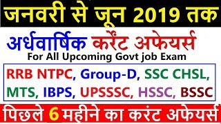 Download Last 6 month top current affairs 2019 | current affairs 2019 | railway ntpc, group d, ssc mts, hssc Video