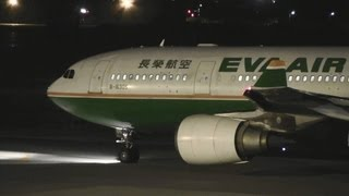 Download [長榮航空 夜間起飛] EVA Air A330-200 B-16305 TAKE-OFF KOMATSU Airport 小松空港 2012.4.4 Video