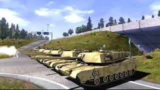 Download ETS 2 Mod - Military Zone - Tanks: T-80, Abrams M1A2, MERKAVA Mk.4 - Euro Truck 2 Video